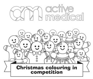 AM Christmas Colouring Activity Sheet